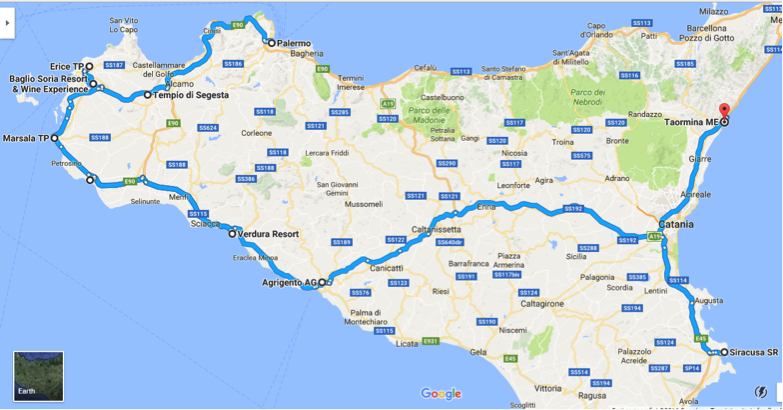 Tour of all places in Sicily